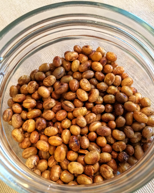 rostade sojabönor