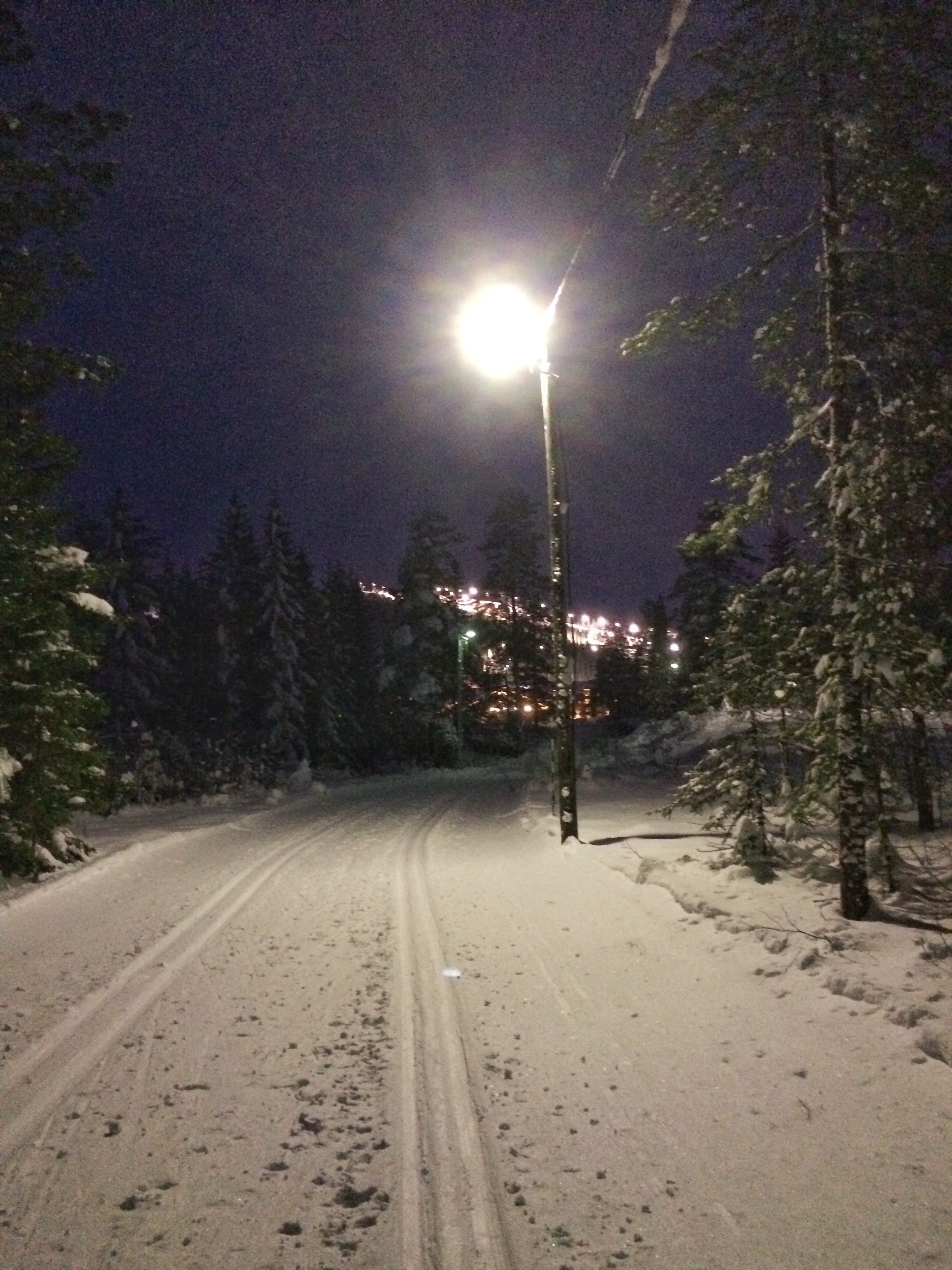 längdskidor på Lindvallen